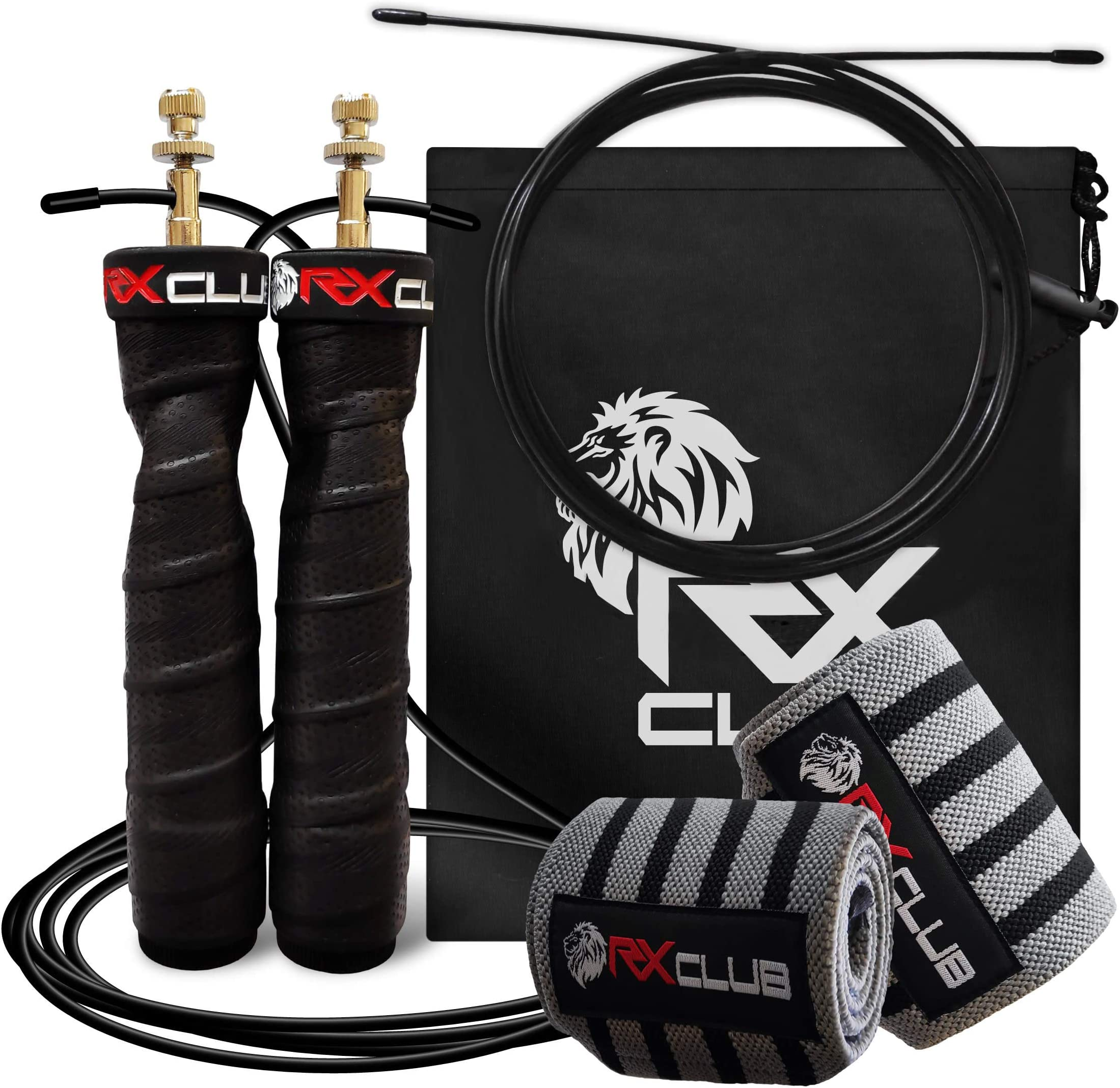 3 steel spare cablesIdeal for Crossfit,... BRANK SPORTS® Speed rope incl