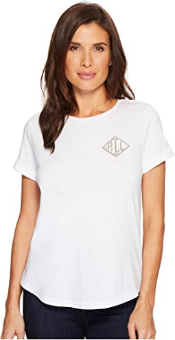 Bullion-Embroidered Jersey T-Shirt