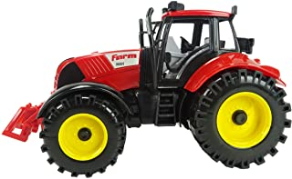 ToylandⓇ Tractor de Granja accionado por fricción de 22 cm x 12 cm con bonete de Apertura - Rojo