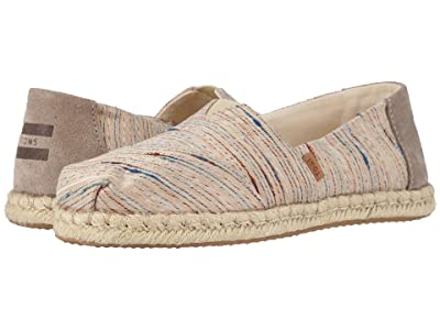 TOMS Alpargata on Rope (Birch Metallic Slub Stripe on Rope) Women