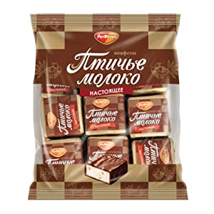 1 lb. Rot Front Chocolates Souffle Birds Milk Vanilla Russian Candies Ptichye Moloko 1 LB.