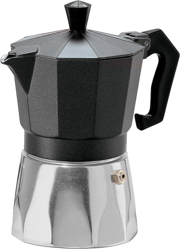Oggi 6570 3 3 Cup Cast Aluminum Stovetop Espresso Maker Black