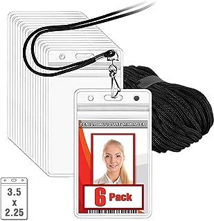 MIFFLIN Cordini piatti per badge ID nero, 91 cm, confezione da 5 comodi spallacci