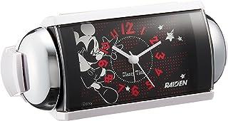 SEIKO CLOCK (セイコークロック) 目覚まし時計 ミッキーマウス アナログ 大音量 ベル音 ミッキー&フレンズ Disney Time(ディズニータイム) RAIDEN (ライデン) 白パール FD465K