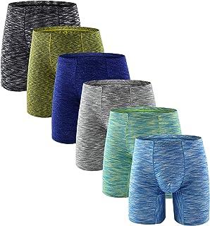YuKaiChen Men's Underwear Sport Stretch Boxer Briefs Long Leg