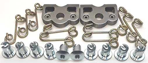 """10 ALUM 5//16/"""" By .500/"""" 1//4 Quick Turn Dzus Fasteners Dome Head Buttons Kit"""