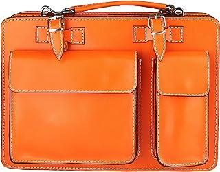 Chicca Borse Handbag Borsa a Mano Portadocumenti Organizer Uomo Donna Taglia Intermedia con Tracolla in Vera Pelle Made in...