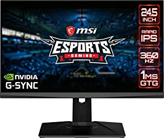 MSI Full HD 1920 x 1080 360Hz 0.5ms Built-in USB Hub DisplayPort HDMI G-Sync Technology Built-in RGB Narrow Bezel LED Back...