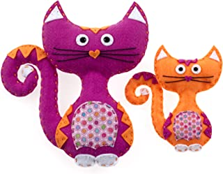 American Girl Crafts Cat Sew and Stuff Activity Kit, DIY Cat Stuffed Animals