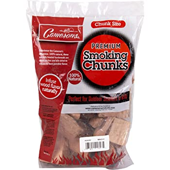 Camerons Products Smoking Wood Chunks- (Alder) ~5 Pound, 420 cu. in. Kiln Dried BBQ Large Cut Chips- 5 Pound Bag, All Natural Barbecue Smoker Chunks