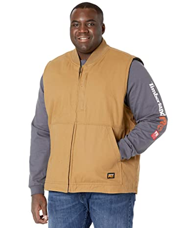 Timberland PRO Extended Gritman Lined Canvas Vest (Dark Wheat) Men