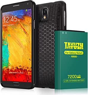 TAYUZH Note 3 Battery   7200mAh Li-ion Replacement Extended Battery & Back Cover & TPU Case Compatible Samsung Galaxy Note 3 N9000, N9005, N900A, N900V, N900P, N900T - 24 Month Warranty