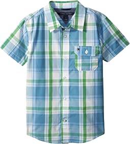 Tommy Hilfiger Kids - Short Sleeve Doug Yarn-Dye Shirt (Big Kids)
