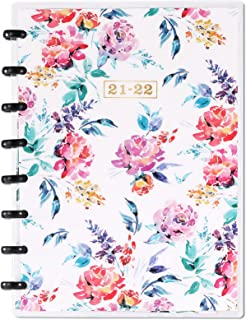 """2021-2022 Planner - 2021-2022 Academic Planner from July 2021 to June 2022, 6.4""""x 8.5"""", Plastic Floral Cover Planner with ..."""