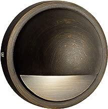 Kichler 15764CBR27 风景壁灯,1 盏灯 LED 2.5 瓦,百年黄铜