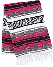 caowrs Handcrafted Mexican Blankets Artisanal Handwoven Serape Blanket Beach Camping Picnic Outdoor Boho Throw Blankets
