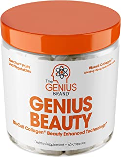 Sponsored Ad - Genius Beauty - Hair Skin and Nails Vitamins + Detox Cleanse + Anti Aging Antioxidant Supplement, Collagen ...