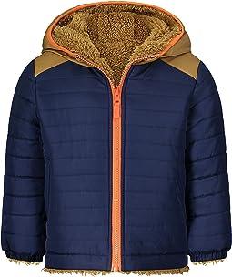 Heavyweight Colorblock Puffer Coat