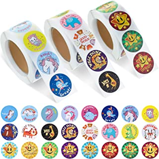 1500 Pieces Motivational Stickers for Kids Stickers for Teachers, 1 Inch Incentive Sticker for Students School Stickers Te...