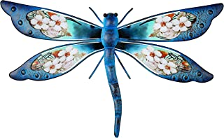 Choice of Four Blue Colorful Metal Dragonfly Wall Decoration