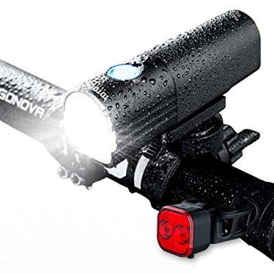Bike Light, LED Bicycle Rechargeable Light Set ...