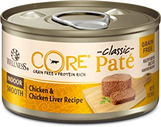 Wellness Core Natural Grain Free Wet Canned Cat Food Indoor Chicken & Chicken Liver