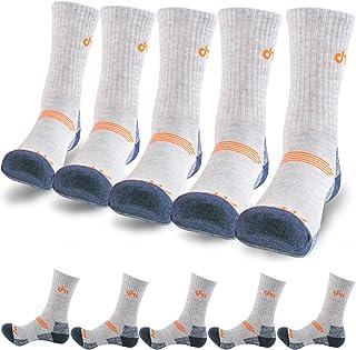 DearMy 5Pack of Women's Multi Performance Cushioned Athletics Hiking Crew Socks | Moisture Wicking | Year Round