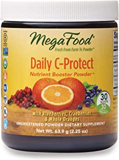 MegaFood, Daily C-Protect Booster Powder, Supports Natural Immune Defenses, Drink Mix Supplement, Gluten Free, Vegan, 2.25...