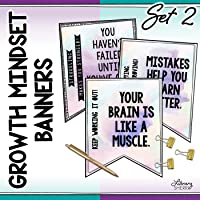 GROWTH MINDSET POSTERS for Middle School and High School, Class Decor, Bulletin Boards: Set 2
