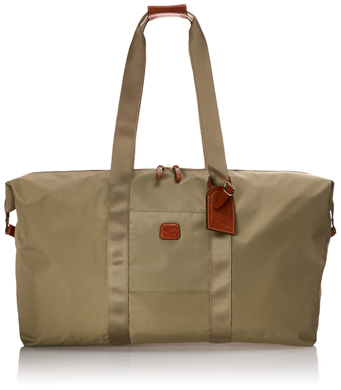 Bric's Luggage BXG30202 22 Inch Folding Duffel and Crossbody Bag, Military, One Size