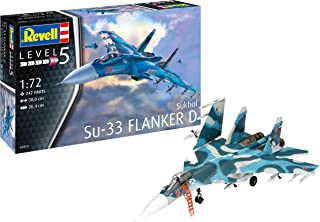 Revell RV03911 Sukhoi Su-33 Flanker D 1:72 Plastic Model Kit, Various