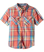 Lucky Brand Kids Short Sleeve Yarn-Dye Plaid Shirt (Big Kids)