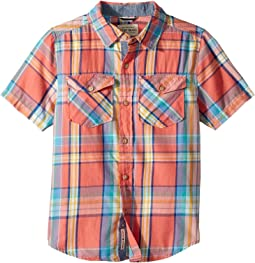 Short Sleeve Yarn-Dye Plaid Shirt (Big Kids)
