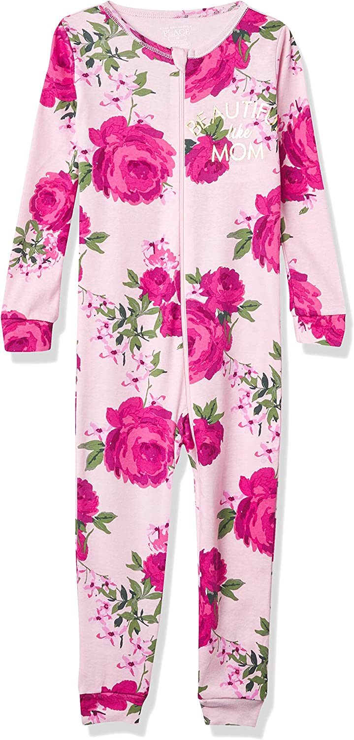 The Children's Place Baby Girls' Mother's Day Stretchie Pajamas