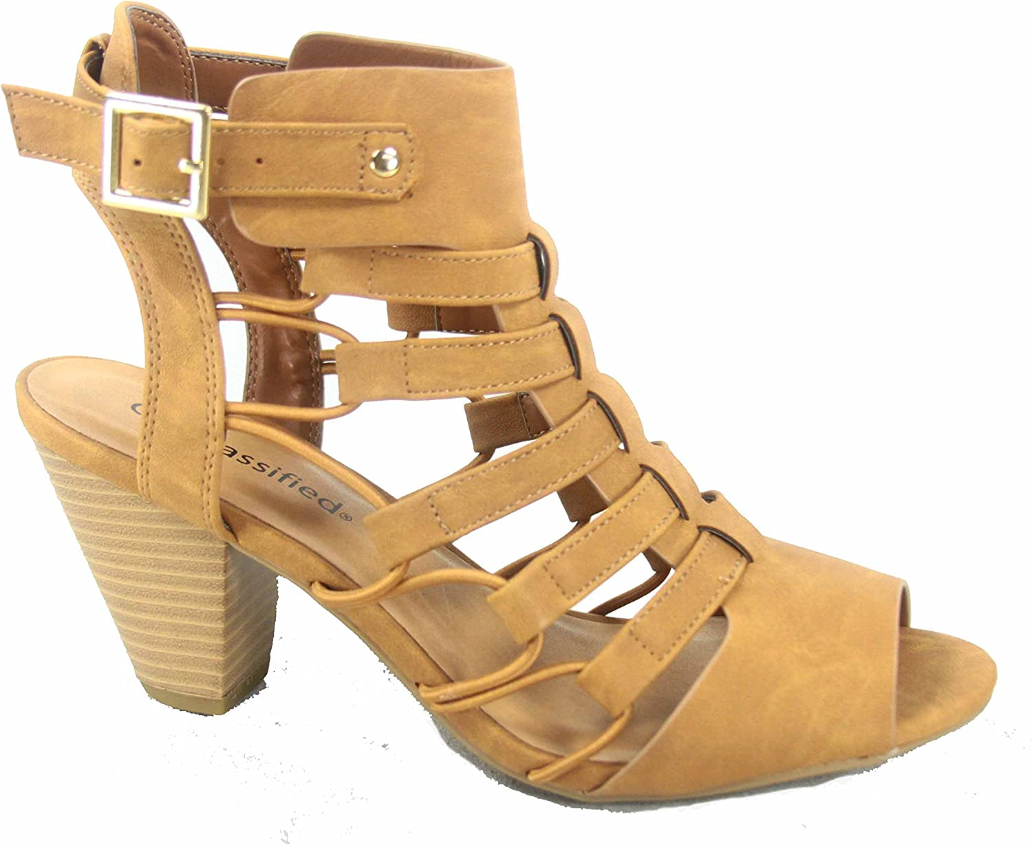 Delicious Awesome-s Women's Fashion Open Toe Strappy Gladiator Heel Low Wedge Sandal shoes
