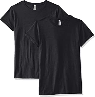 AquaGuard Womens AQU-LA3516-2PK Fine Jersey Longer Length T-Shirt - 2 Pack Short Sleeve T-Shirt - Gray - X-Small