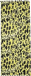 Women's Leopard Print Wool Scarf Yellow