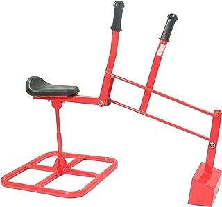 Childrensneeds.com Sand Digger Ride on Sandbox Excavator Crane, Tough Kid-Backhoe Toy - Extra Heavy Duty, Outdoor Grade (red)