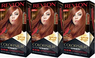 Revlon Colorsilk Buttercream Hair Dye, Vivid Medium Auburn, Pack of 3