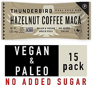 Thunderbird Paleo and Vegan Snacks - Real Food Energy Bars - Fruit & Nut Nutrition Bars - No Added Sugar, Grain and Gluten Free, Non-GMO, 15 Pack (Hazelnut Coffee Maca)