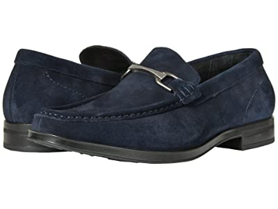 Stacy Adams Newcomb Moc Toe Penny Loafer (Navy Suede) Men