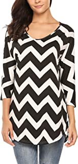 Best black chevron blouse Reviews