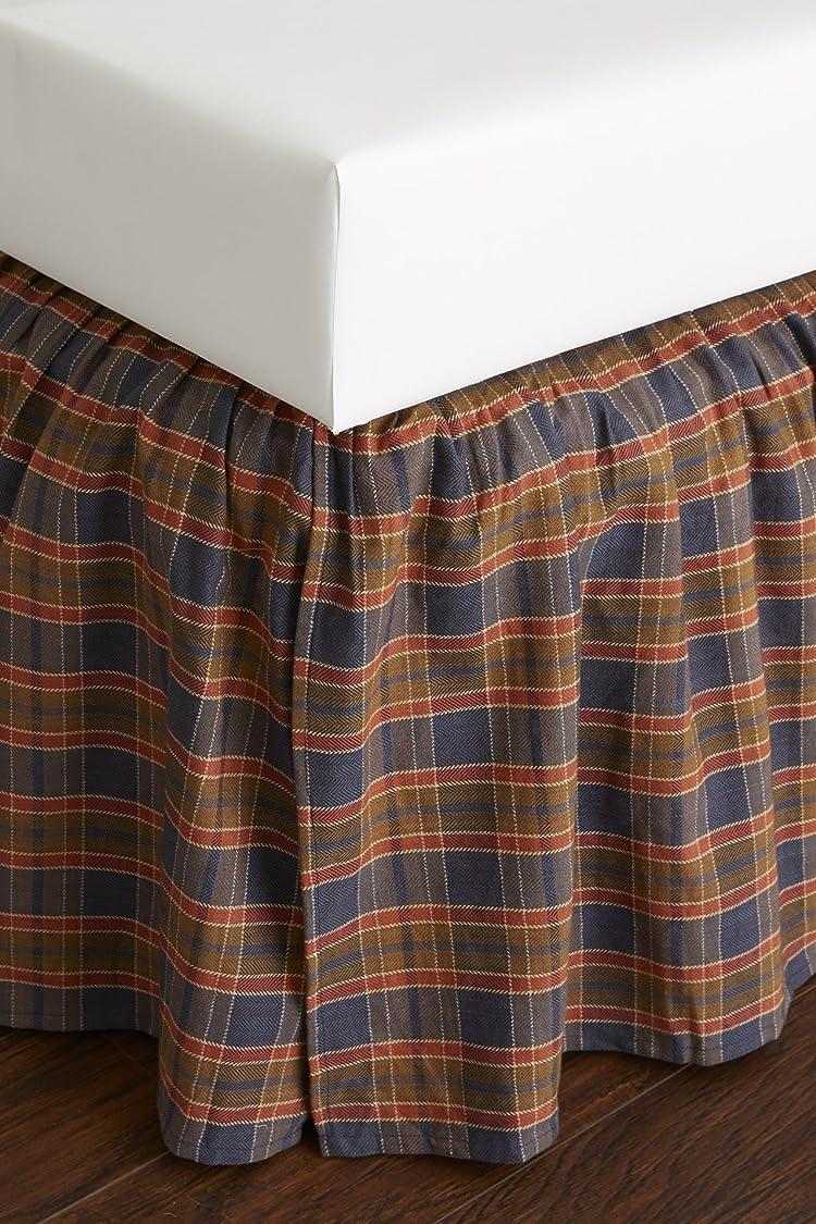 逃げる幅回る格子柄ツインベッドスカート