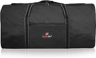 XXL Bolsa de Viaje Muy Grande, 110 litros 2-XL Bolsas de Lona Enormes - Plegable para Almacenamiento, Equipo de Gimnasio Deportivo, Viaje o Lavandería - 86cmx36x36 Negro RL34