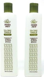 Trader Joe's Tea Tree Tingle Shampoo with Peppermint, Tea Tree and Eucalyptus Botanicals (Pack of 2)