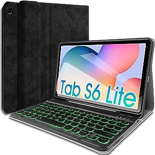 جراب لوحة مفاتيح Wineecy Galaxy Tab S6 Lite 2020 10.4 [إضاءة خلفية ، -P610 ، -P615] ، لوحة مفاتيح لاسلكية قابلة للفصل ذات ...
