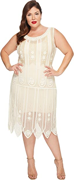 Unique Vintage - Plus Size Steinway Flapper Dress