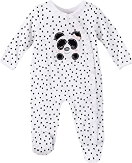 Cotton Pajamas One-Piece Button Up Footed Pajamas Jumpsuit Long Sleeve Romper and Headband Hongyuangl Unisex Baby Sleep Play