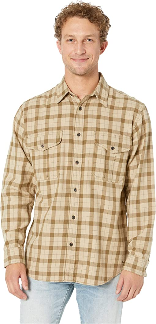 Khaki/Brown Plaid