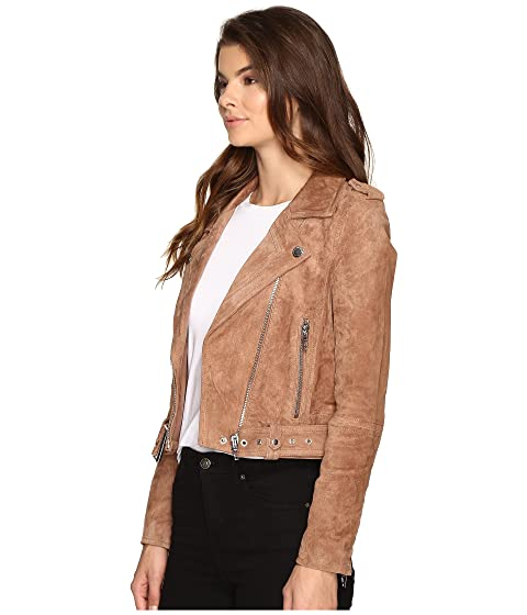 Professional For Sale Blank NYC Camel Suede Moto Jacket in Coffee Bean Camel/Beige Discount Comfortable Outlet Footaction Deals Online Cheap Browse NYF3egpnF